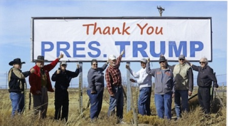 trump sign when posted