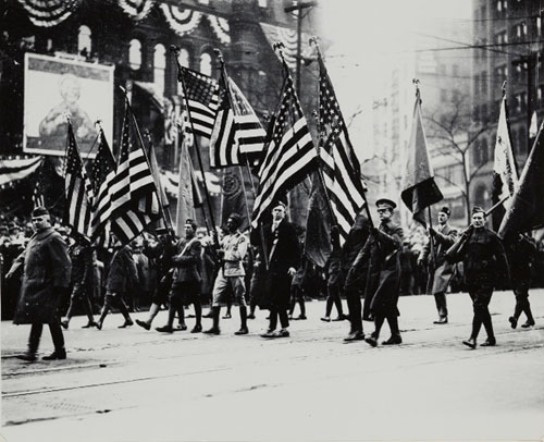 Armistice Day Parade 1919 The Detroit News Detroit Institute of Arts Enlarged