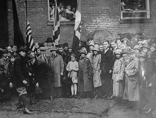 Force School Tree Planting Armistice Day 1919 Library of Congress