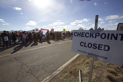 undeterred still rally at the checkpoint