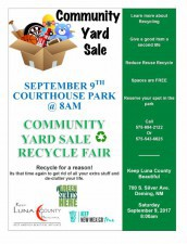 2017 Luna County Yard Sale in the Park
