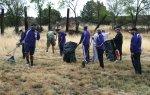 Fort Bayard Clean Up by WNMU Football Team Crew
