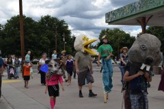 Monsoon Puppet Parade During Gila River Extravaganza