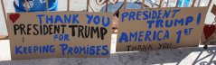 Rally supporting U.S. President Trump held Saturday 030417