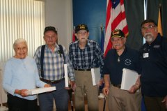 American Legion hosts presentation to WWII veterans 061218