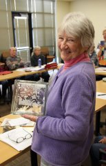 Lois Duffy recognized by Silver City Art Association 011018