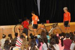 Tour of Gila cyclists speak to Bayard Elementary students 041118