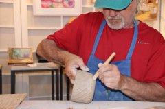Clay demonstration by Gelindo Ferrin 071819