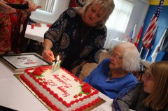Woman celebrates 105th birthday