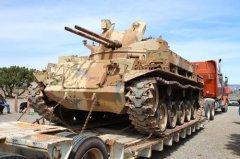 Vietnam-era M42 Duster installed at Forgotten Veterans' Memorial 032619