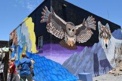 Youth Mural at Barnard Hall dedication 071919