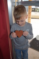 Creating Leather Valentines at the Silver City Museum 020120