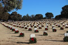 Wreaths Across America ceremony 121820